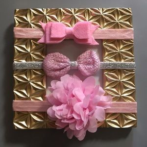 Other - (3) piece baby girl toddler headbands